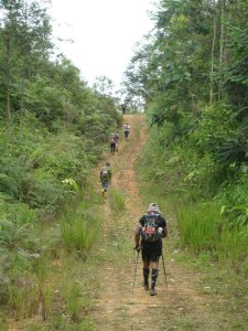 One of the many uphills during Sabah Adventure Challenge 2011