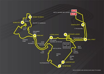 Urbanathlon 2013 Route