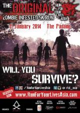 Press Release: Run For Your Lives Singapore Zombie Apocalypse 5km Race