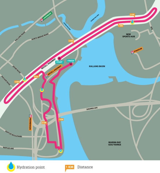 Mediacorp Hong Bao Run race route
