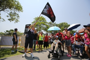 Flag off for a special Walk-and-Wheel segment for the Singapore Red Cross Home (RCHD) for the Disabled, the official Beneficiary for Run For Your Lives